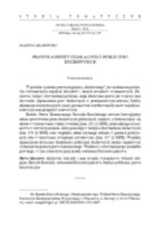Prawne aspekty działalności publicznej duchownych.