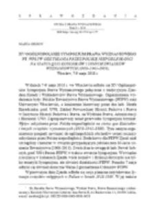 XV Ogólnopolskie Sympozjum Prawa Wyznaniowego pt. Wpływ odzyskania przez Polskę niepodległości na status quo Kościołów i innych związków wyznaniowych (1918–1945–1989), Wrocław, 7-9 maja 2018 r.