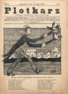 Plotkarz : tygodnik humorystyczno-satyryczny. R. 1, nr 5 (14 Maja 1922)