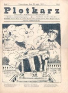 Plotkarz : tygodnik humorystyczno-satyryczny. R. 1, nr 6 (21 Maja 1922)