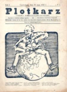 Plotkarz : tygodnik humorystyczno-satyryczny. R. 1, nr 7 (28 Maja 1922)