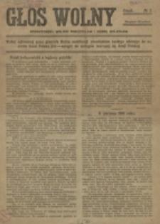 Głos Wolny. 1918, nr 2