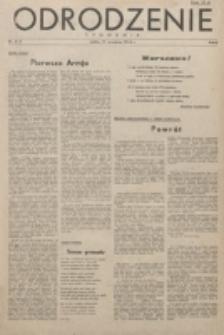 Odrodzenie : tygodnik. R. 1, nr 2/3 (17 września 1944)