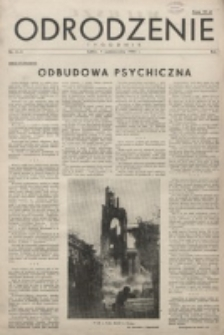 Odrodzenie : tygodnik. R. 1, nr 4/5 (1 pażdziernika 1944)