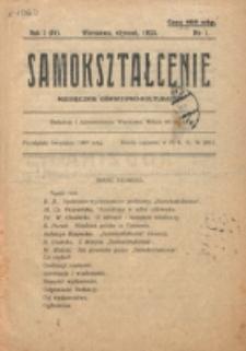 Samokształcenie : miesięcznik oświatowo-kulturalny. R. 1=4, nr 1 (1923)