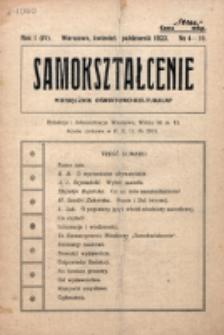 Samokształcenie : miesięcznik oświatowo-kulturalny. R. 1=4, nr 4/10 (1923)