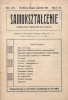 Samokształcenie : miesięcznik oświatowo-kulturalny. R. 1=4, nr 11/12 (1923)