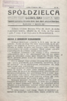 Spółdzielca Lubelski. R. 5, nr 10 (1921)