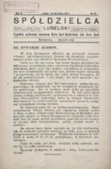 Spółdzielca Lubelski. R. 5, nr 40 (1921)