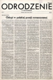 Odrodzenie : tygodnik. R. 2, nr 15 (11 marca 1945)