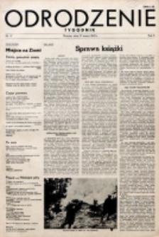 Odrodzenie : tygodnik. R. 2, nr 17 (25 marca 1945)