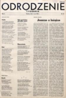Odrodzenie : tygodnik. R. 2, nr 23 (6 maja 1945)