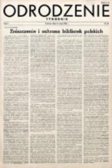 Odrodzenie : tygodnik. R. 2, nr 26 (27 maja 1945)