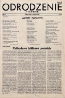 Odrodzenie : tygodnik. R. 2, nr 30 (24 czerwca 1945)