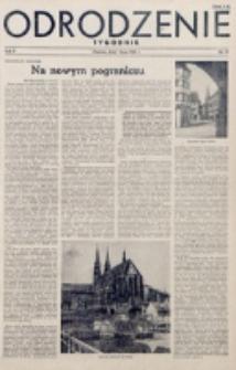 Odrodzenie : tygodnik. R. 2, nr 31 (1 lipca 1945)