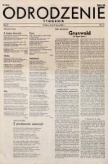 Odrodzenie : tygodnik. R. 2, nr 33 (15 lipca 1945)