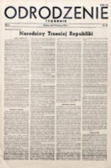 Odrodzenie : tygodnik. R. 2, nr 38 (19 sierpnia 1945)