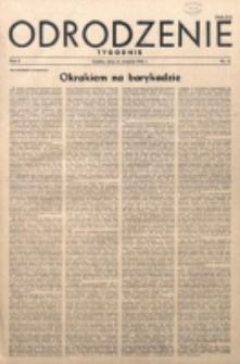Odrodzenie : tygodnik. R. 2, nr 43 (23 września 1945)