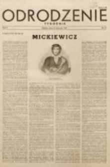 Odrodzenie : tygodnik. R. 2, nr 52 (25 listopada 1945)