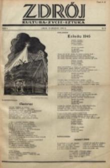 Zdrój : kultura - życie - sztuka. R. 1, nr 8 (15 grudnia 1945)
