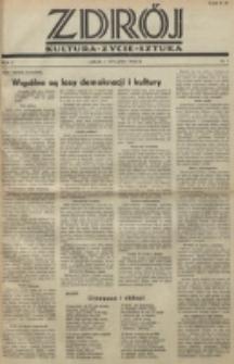Zdrój : kultura - życie - sztuka. R. 2, nr 1 (1 stycznia 1946)