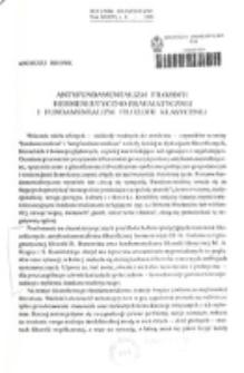 Antyfundamentalizm filozofii hermeneutyczno-pragmatycznej i fundamentalizm filozofii klasycznej / Andrzej Bronk.