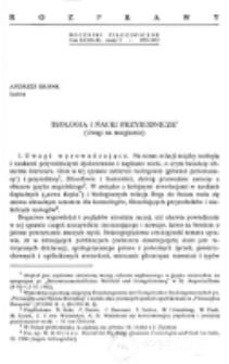 Teologia i nauki przyrodnicze : (uwagi na marginesie) / Andrzej Bronk.