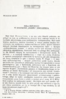 """Rola refleksji w dziedzinie """"Cogito"""" Descartes'a / Wojciech Chudy."""