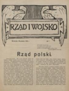 Rząd i Wojsko. 1916, nr 7 (29 grudnia)