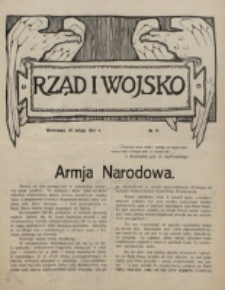 Rząd i Wojsko. 1916, nr 11 (25 lutego)