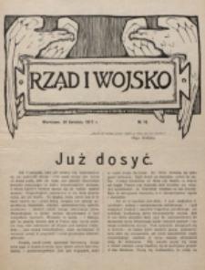 Rząd i Wojsko. 1917, nr 16 (30 kwietnia)
