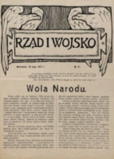 Rząd i Wojsko. 1917, nr 17 (10 maja)