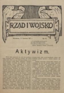 Rząd i Wojsko. 1917, nr 19 (12 czerwca)