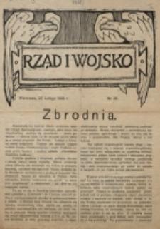 Rząd i Wojsko. 1918 nr 26 (25 lutego)