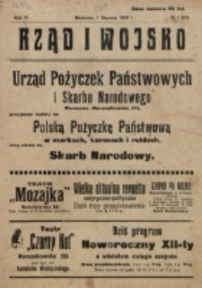 Rząd i Wojsko. R. 4 (1919), nr 1 =32 (1 stycznia)