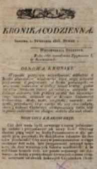 Kronika Codzienna. 1823, nr 1 (1 stycznia)