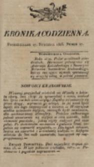 Kronika Codzienna. 1823, nr 27 (27 stycznia)