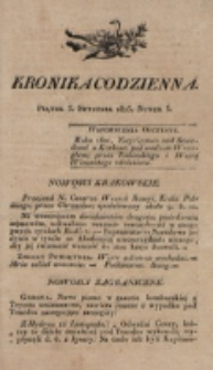 Kronika Codzienna. 1823, nr 3 (3 stycznia)
