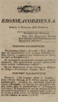 Kronika Codzienna. 1823, nr 4 (4 stycznia)