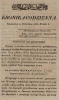 Kronika Codzienna. 1823, nr 5 (5 stycznia)