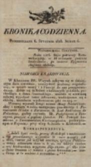 Kronika Codzienna. 1823, nr 6 (6 stycznia)