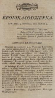 Kronika Codzienna. 1823, nr 9 (9 stycznia)