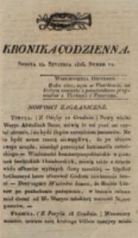 Kronika Codzienna. 1823, nr 11 (11 stycznia)