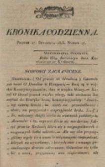 Kronika Codzienna. 1823, nr 17 (17 stycznia)