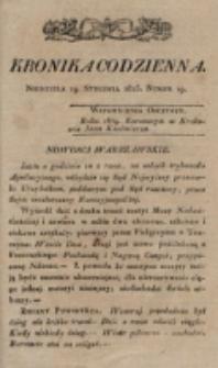 Kronika Codzienna. 1823, nr 19 (19 stycznia)