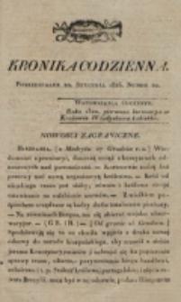 Kronika Codzienna. 1823, nr 20 (20 stycznia)