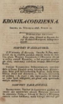 Kronika Codzienna. 1823, nr 22 (22 stycznia)