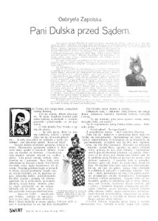 Świat : [pismo tygodniowe ilustrowane poświęcone życiu społecznemu, literaturze i sztuce. R. 3 (1908), nr 22 (30 maja)