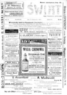 Świat : [pismo tygodniowe ilustrowane poświęcone życiu społecznemu, literaturze i sztuce. R. 3 (1908), nr 41 (10 października)