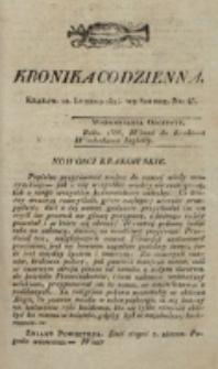 Kronika Codzienna. 1823, nr 43 (12 lutego)